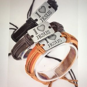 6 Pack Wholesale Real Leather Bracelet Lot